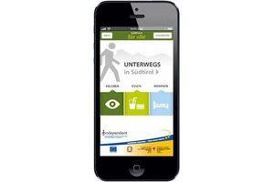 """Smartphone- und Tablet-Applikation """"Südtirol für alle"""" © Magnolia"""