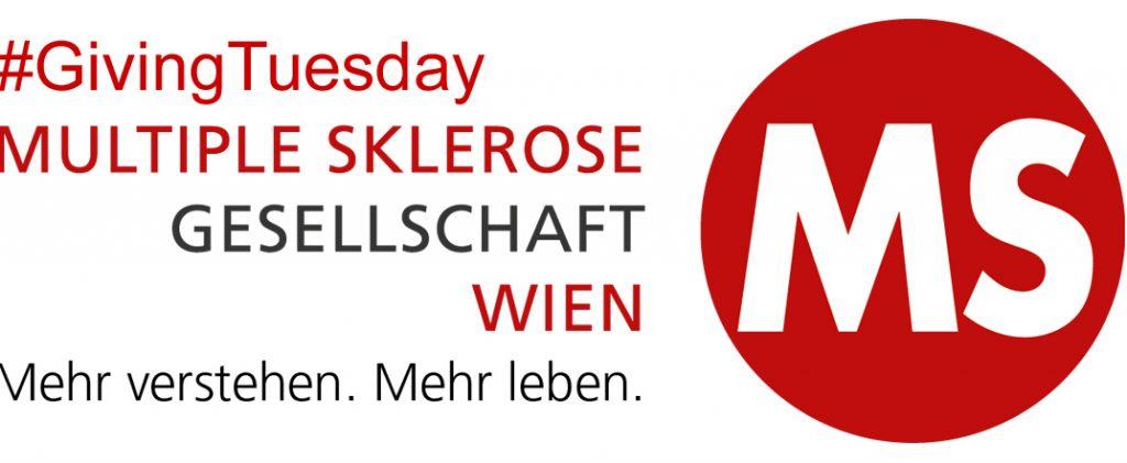 Logo MS-Gesellschaft Wien mit Hashtag GivingTuesday