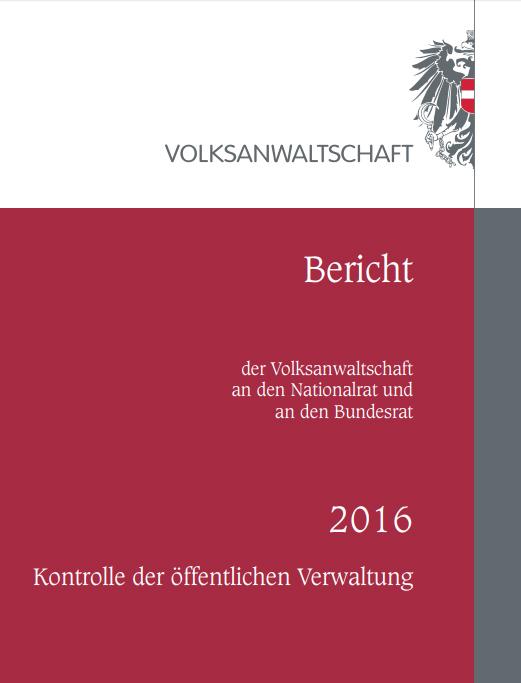 Bericht der Volksanwaltschaft über das Jahr 2016