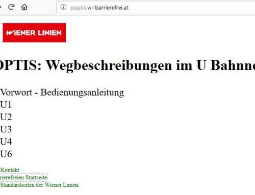 POPTIS-Orientierungssystem: Barrierefrei unterwegs im Wiener U-Bahn-Netz