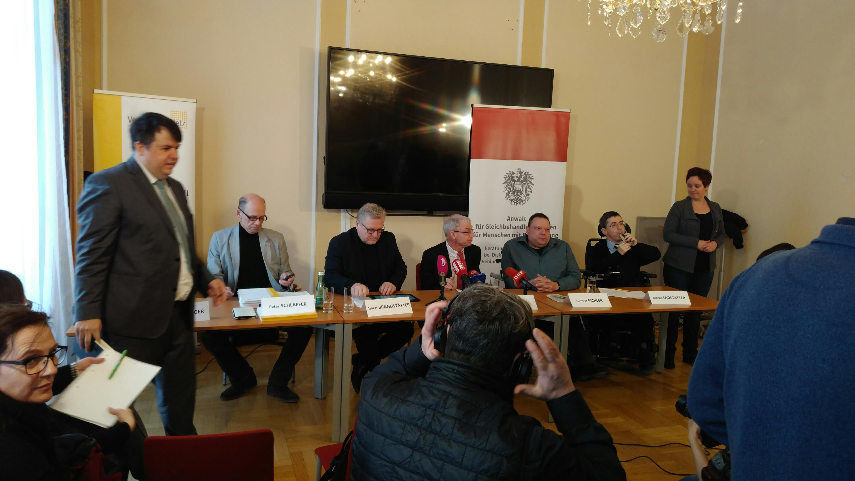 von links nach rechts: Peter Schlaffer, Albert Brandstätter, Hansjörg Hofer, Herbert Pichler und Martin Ladstätter beim Pressegespräch, Foto: ÖBR