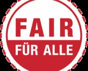 Logo: FAIR FÜR ALLE – Zertifikat zur Steigerung von Barrierefreiheit