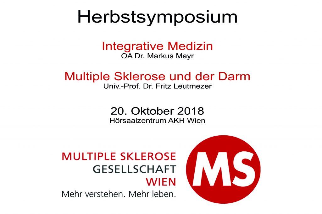 20. Oktober 2018: Herbstsymposium der Multiple Sklerose Gesellschaft Wien