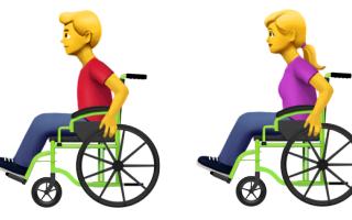 Accessible Emoji: Personen im Rollstuhl, Credit: Apple