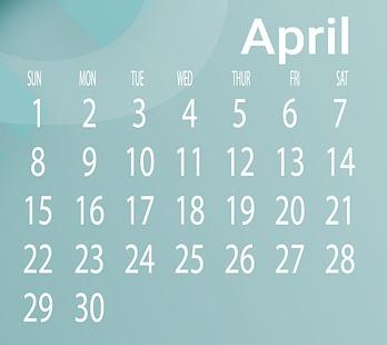 Kalenderansicht April 2018