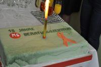 Zu Ehren des 15-jährigen Bestehens des MS-Beratungszentrums wurde eine Torte kreiert.