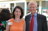 Welt-MS-Tag 2018 und 15 Jahre MS-Beratungszentrum: Karin Krainz-Kabas und Dr. Martin Gleitsmann. Foto: MS-Gesellschaft Wien