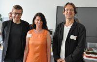Welt-MS-Tag 2018 und 15 Jahre MS-Beratungszentrum: OA Dr. Helmut Rauschka, Karin Krainz-Kabas und Univ.-Prof. Dr. Fritz Leutmezer. Foto: MS-Gesellschaft Wien