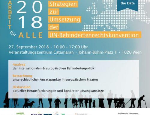 Europäische Konferenz: Arbeit für Alle