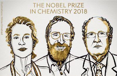 Chemie-Nobelpreisträger 2018: Frances H. Arnold, George P. Smith , Sir Gregory P. Winter, MLA style: The Nobel Prize in Chemistry 2018. NobelPrize.org. Nobel Media AB 2018. Fri. 5 Oct 2018