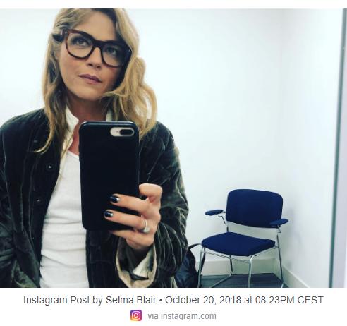 Screenshot Instagram-Post Selma Blair, 20. Oktober 2018