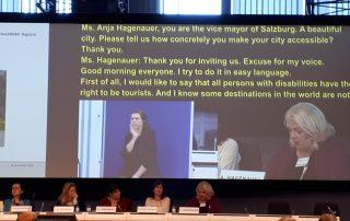 Salzburgs Bürgermeister-Stellvertreterin Mag. Anja Hagenauer spricht über Barriefreiheit in der Touristenhochburg Salzburg