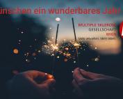 Wir wünschen ein wunderbares Neues Jahr. Auch 2019 wird sich das Team der MS-Gesellschaft Wien mit Leidenschaft und Engagement für Menschen mit MS und ihre Angehörigen einsetzen.