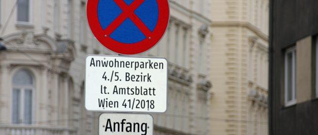 Kennzeichnung der AnwohnerInnen-Parkplätze ab 1. Dezember 2018, copyright: MA 46/Rudi Salomon