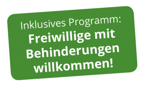 Inklusives Programm: freiwillige mit Behinderung willkommen!