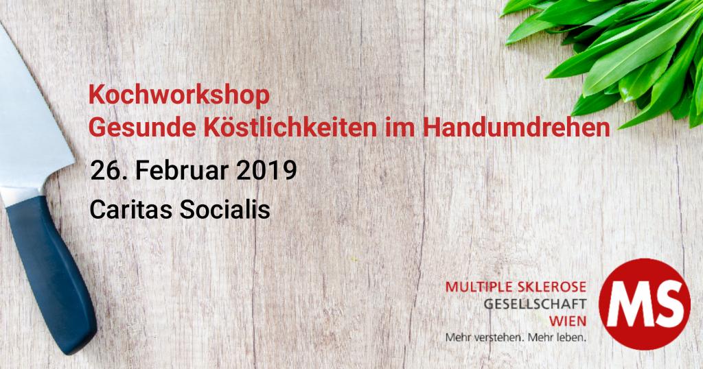 Kochworkshop: Gesunde Köstlichkeiten im Handumdrehen, 26. Februar 2019