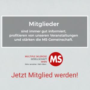 Mitglieder der MS-Gesellschaft Wien sind immer gut informiert, profitieren von unseren Angeboten und stärken die MS-Gemeinschaft. Jetzt Mitglied werden!