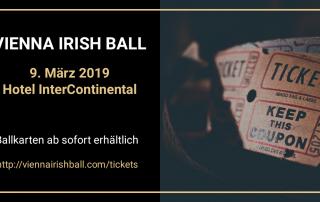 Tickets für den Vienna Irish Ball sind ab sofort zu haben. Der Erlös der Charity-Einnahmen geht an die irische und die österreichische Multiple Sklerose Gesellschaft.