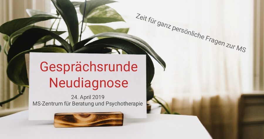 Gesprächsrunde Neudiagnose Ihre ganz persönlichen Fragen zur Multiplen Sklerose stehen an diesem Abend für unsere Fachleute aus den Bereichen Neurologie, Psychotherapie und sozialer Arbeit im Mittelpunkt.