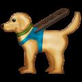 Guide Dog on Emojipedia 12.0, © 2019 Emojipedia