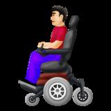 Man in Motorized Wheelchair: Light Skin Tone on Emojipedia 12.0, © 2019 Emojipedia
