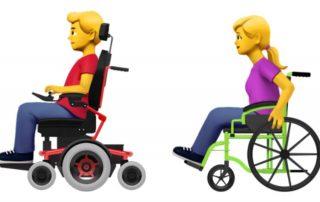 Emoji: Menschen mit Rollstuhl, © 2019 Emojipedia