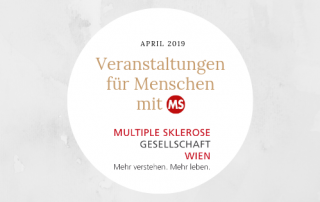 Veranstaltungen für menschen mit Multipler Sklerose im April 2019