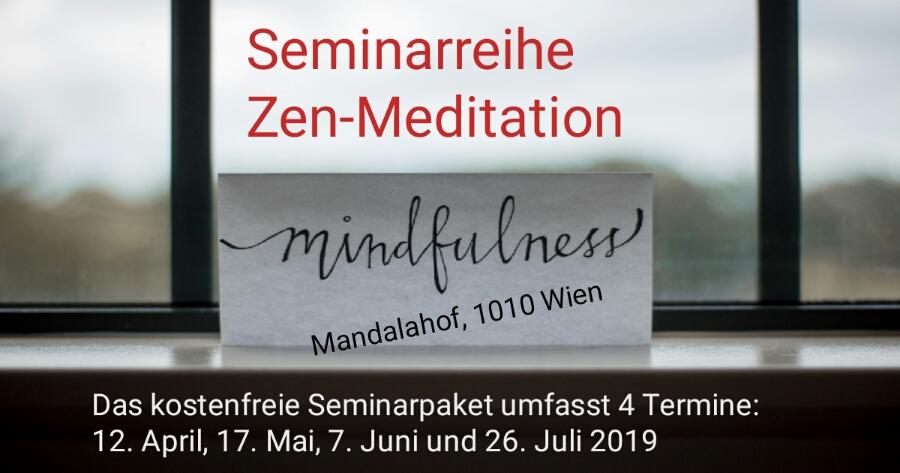 Am 12. April 2019 beginnt die kostenlose Seminarreihe Zen-Meditation mit Dr. Wolfgang Huber. Der Arzt und MS-Betroffene führt Sie an vier Abenden in die Welt des Zen-Buddhismus ein. Termine: Jeweils Freitag 12. April, 17. Mai, 7. Juni und 26. Juli 2019. Die Anmeldung gilt für für alle vier Abende.