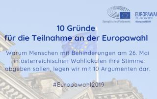 10 Gründe für die Teilnahme an der Europawahl