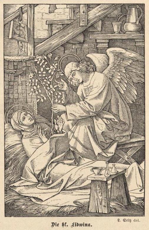Hl. Lidwina von Schiedam, von Ludwig Seitz, Quelle: Sendbote des Göttlichen Herzens Jesu, Jahrgang 1910, Seite 71
