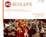 Die orange MS-Schleife symbolisiert Solidarität mit von MS betroffenen Menschen. #MSRibbon