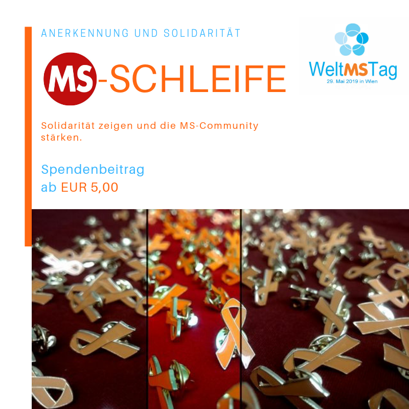 Die orange MS-Schleife symbolisiert Solidarität mit von Multipler Sklerose betroffenen Menschen. #MSRibbon
