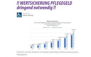 """Petition """"Wertsicherung Pflegegeld"""""""