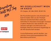 Multiple Sklerose Gesellschaft Wien im Radio