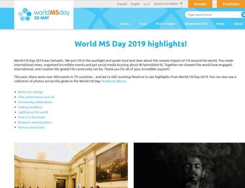 Welt MS Tag am ganzen Globus