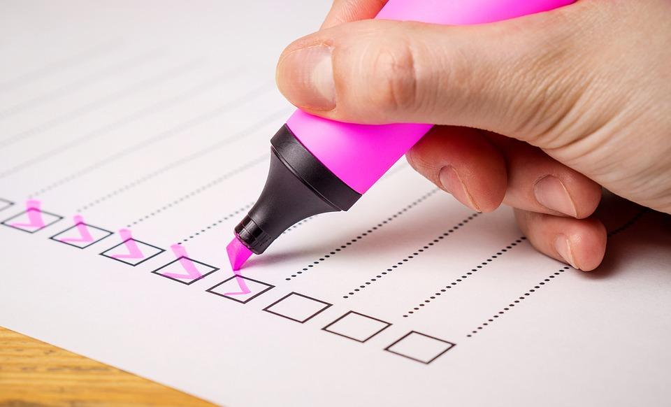 Umfrage, Checkliste, Credit: Tero Vesalainen, Pixabay