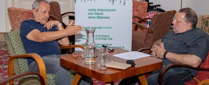 ÖBR-Präsident Herbert Pichler traf Peter Pilz von der Liste Jetzt und sprach mit ihm über brennende Anliegen., Copyright: ÖBR