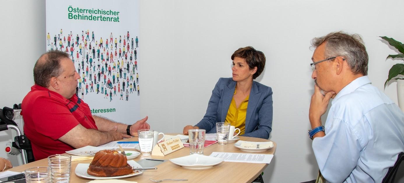 Gespräch Herbert Pichler und Pamela Rendi-Wagner (SPÖ) anlässlich der Nationalratswahl 2019, Copyright: ÖBR