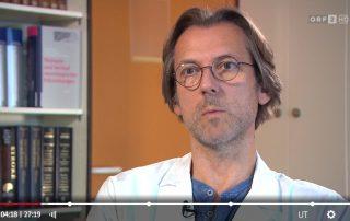 """Screenshot ORF-Gesundheitsmagazin """"Bewusst gesund"""" vom 21. September 2019: Univ.-Prof. Dr. Fritz Leutmezer, Präsident der Multiple Sklerose Gesellschaft Wien"""
