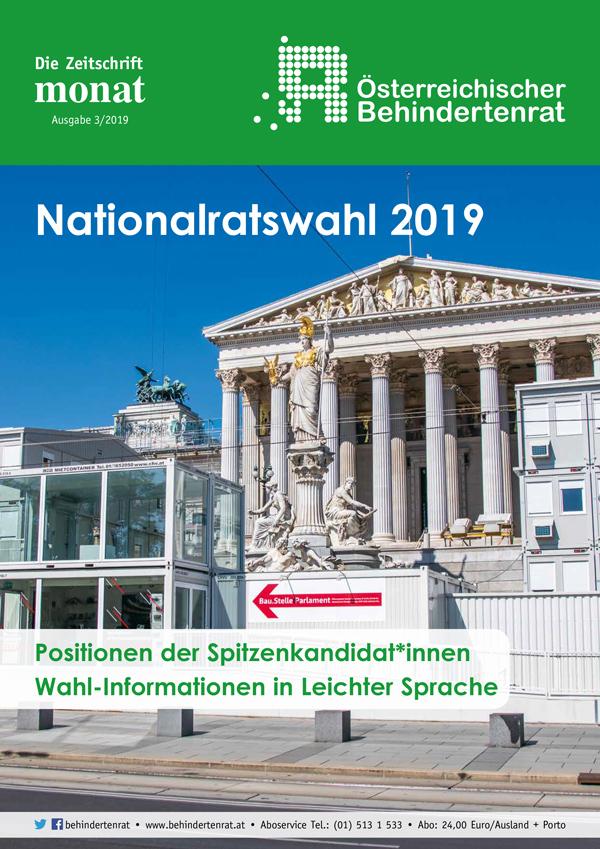 monat: Sonderausgabe zur Nationalratswahl 2019
