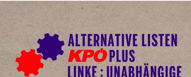 ALTERNATIVE LISTEN : KPÖ PLUS : LINKE : UNABHÄNGIGE (KPÖ)