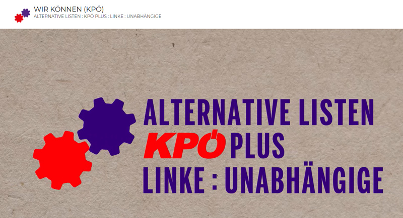 ALTERNATIVE LISTEN : KPÖ PLUS : LINKE : UNABHÄNGIGE (KPÖ)