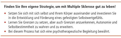 Finden Sie Ihre eigene Strategie, um mit Multiple Sklerose gut zu leben!