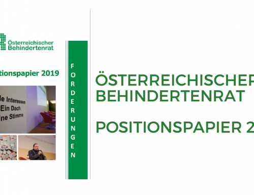 Behindertenrat: Positionspapier 2019