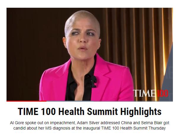 Selma Blair beim Time 100 Health Summit, Quelle: Time Magazine