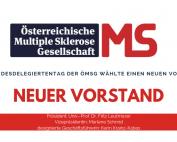 Der Bundesdelegiertentag der Österreichischen Multiple Sklerose Gesellschaft wählte am 4. Oktober 2019 einen neuen Vorstand.