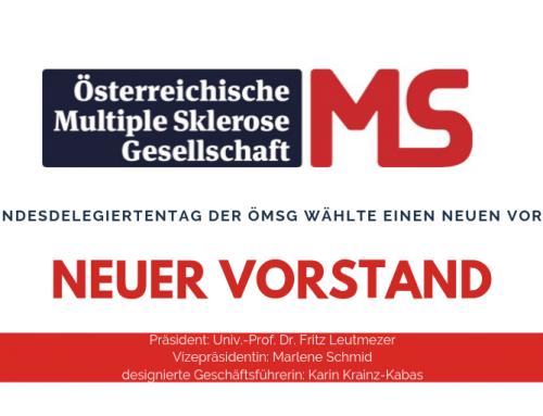 Neuer Vorstand der Österreichischen Multiple Sklerose Gesellschaft