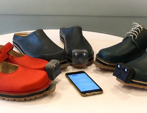 Schuh für Seh- und Mobilitätsbeeinträchtige