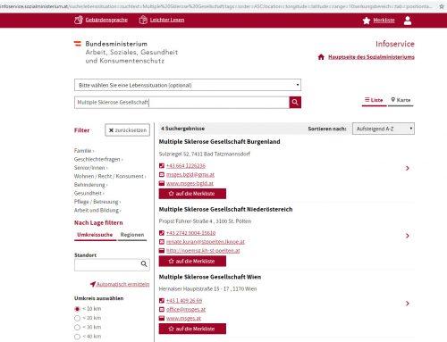 Sozialministerium: Infoservice mit neuem Webauftritt
