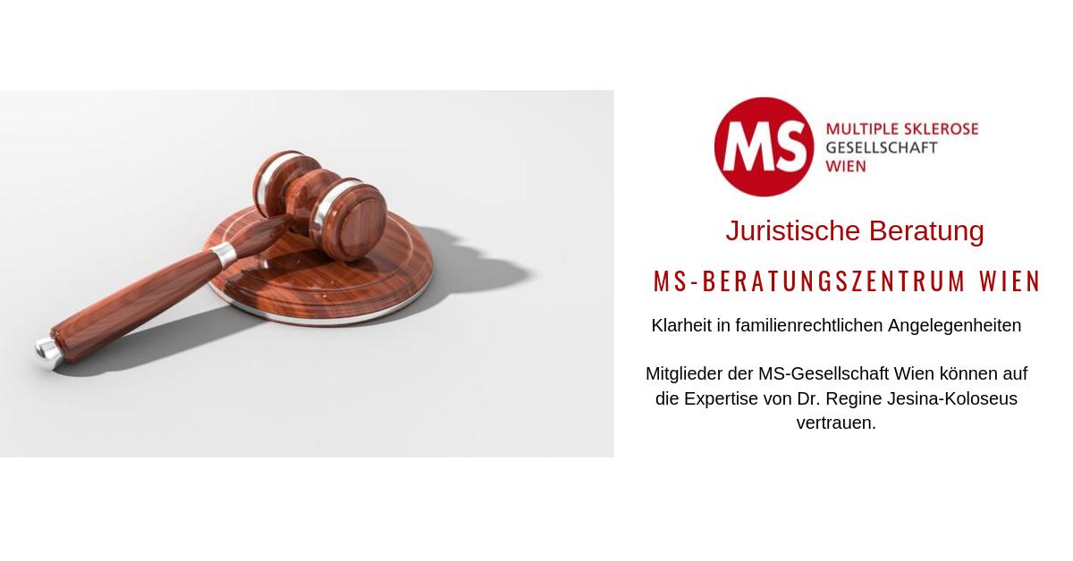 Klarheit in familienrechtlichen AngelegenheitenMitglieder der MS-Gesellschaft Wien können auf die Expertise von Dr. Regine Jesina-Koloseus vertrauen.